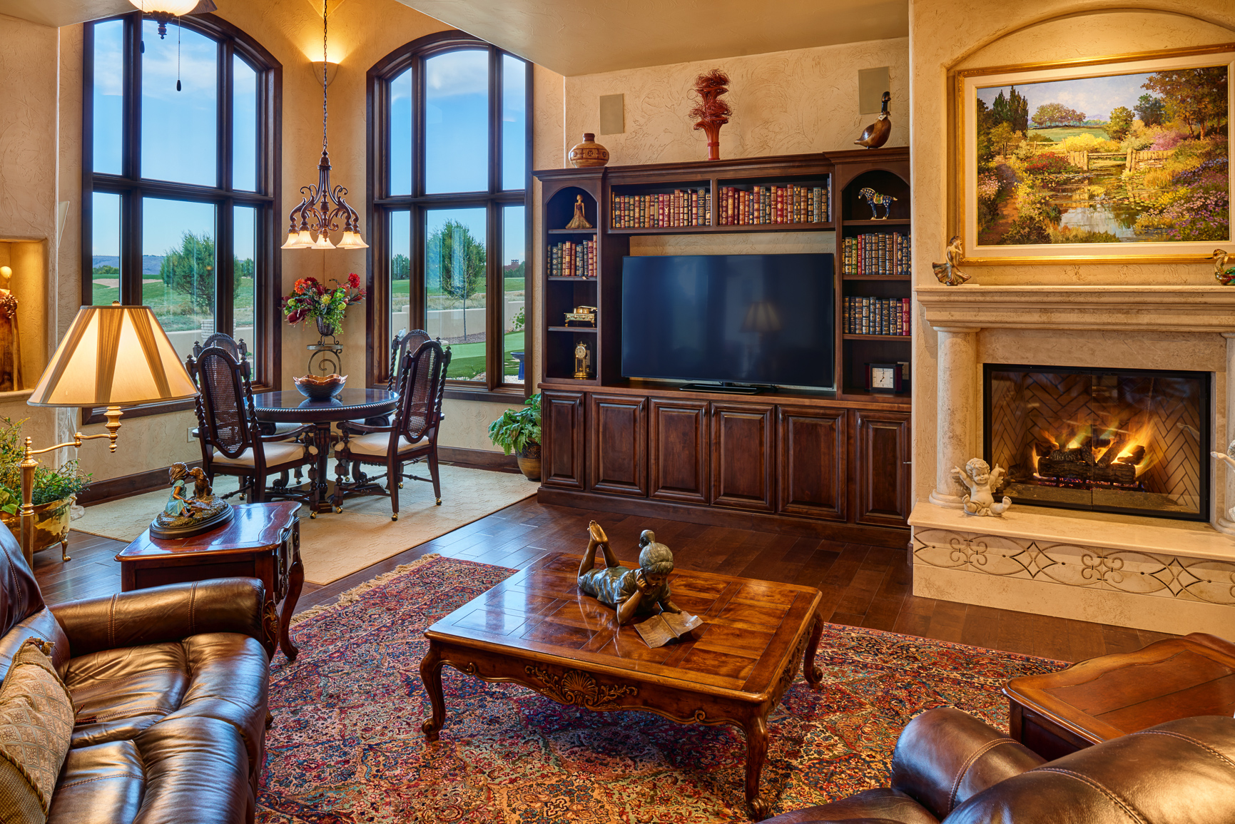 Bill Cornelius Construction Luxury Custom Homes Living and Dining Room