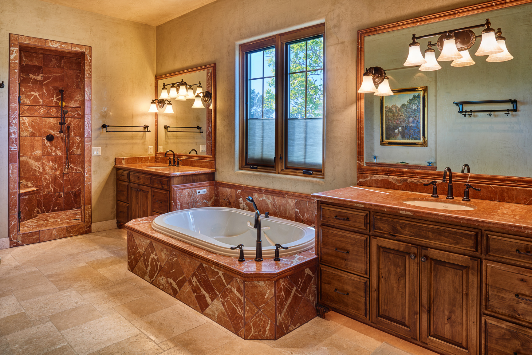 Bill Cornelius Construction Luxury Custom Homes Marbled Bathroom